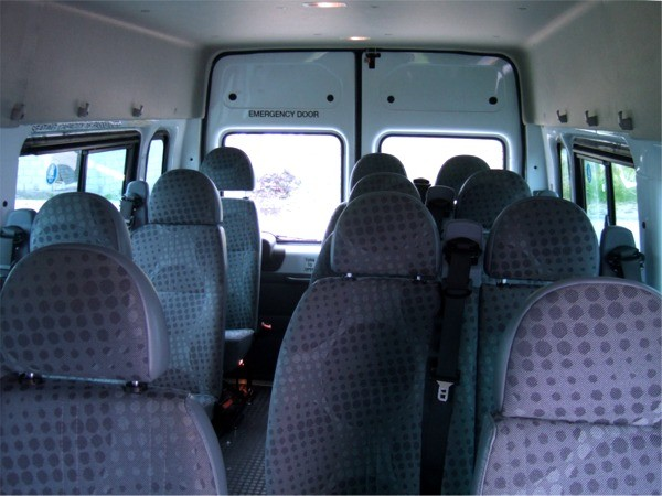 Ford Transit 16-seater minibus - inside view