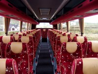 Volvo B12M with 53 reclining seats inside view